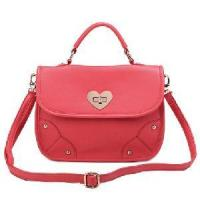 China Watermelon Red Leather Handbag on sale