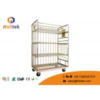 Buy cheap Mesh Lock Wheeling Logistics Trolley Material Movement Heavy Duty Goods Trolley product