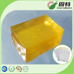 Buy cheap Yellow transparent Block Strength Hot Glue , Medical Plaster Hot Melt Glue product