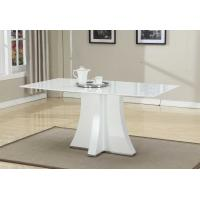 Buy cheap White Artificial Marble Topped Dining Table Customized Folede 1600*900*750mm from Wholesalers