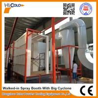 Buy cheap Automatic Powder Coating Spray Booth With Big Cyclone Long Service Life product