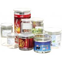 Buy cheap 500ml ODM Labeling Clear Plastic Cylinder Food Grade Canned Tubes product