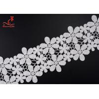 Buy cheap Beautiful Flower White Embroidered Lace Trim For Wedding Dress product