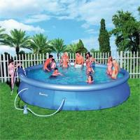 China retangle backyard sevylor inflatable Swimming pool with net and pillar on sale