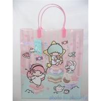 Buy cheap LDPE Rigid Handle Plastic Bags Clear Pink for Clothes Shop 30*10*60cm product