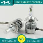 Buy cheap DC 9 - 36V Led H4 Car Headlight Bulbs , High Low Beam Super Bright Headlight Bulbs product