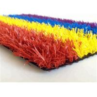 Buy cheap Colorful Synthetic Faux Turf Grass , Artificial Turf Backyard For Kindergarden product