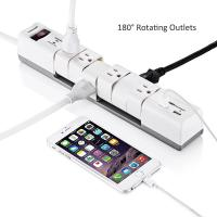 Buy cheap 6 Outlets180 Rotatable Electrical Power Strip Surge Protector with Dual 3.4A Smart USB Ports product