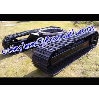 cutom built 1-100 ton steel track undercarriage with slew bearing (crawler undercarriage with slew bearing)