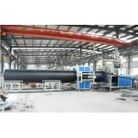 China Automatic Plastic Pipe Extrusion Line , Sprial Hdpe Pipe Production Line low noise on sale