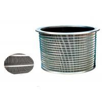 Buy cheap 380v Screening Purification Equipment Parts Pressure Screen Basket SS316 Mateiral product