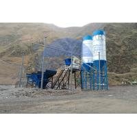 Buy cheap Fixed HZS50 Stationary Concrete Batching Plant PLC Control System High Reliability product