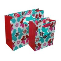 Buy cheap Small Paper Carrier Bags Hot Stamping Floral Pattern for Jewelry product