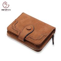 China Fashion low price simple design card holder handbags portable purse girls short money wallet for ladies on sale