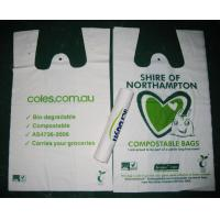 Buy cheap White Biodegradable Shopping Bags Offset Printing T-Shirt Bag product