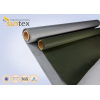 Buy cheap Fiber Glass Insulation Welding Blanket Roll Silicone Rubber Coated Fiberglass Fabric product
