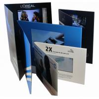 Buy cheap 2.4 inch Full colors Video Greeting Card with rechargeable battery , 2G  memory product