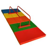 Buy cheap Adjustable Home Childrens Gymnastics Equipment Red Parallel Bars Security Antirust product
