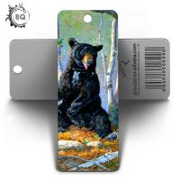 Buy cheap CMYK Color Custom Bookmark With Tassel And Animal Picture 5.8X15.5CM product