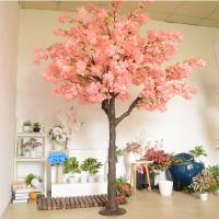 Buy cheap Plastic Trunk Artificial Cherry Blossom Tree 2.5m Height For Wedding Decor product