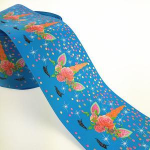 Buy cheap 3 inch blue background colorful sleep unicorn design fita de gorgurao product