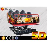 Buy cheap 6Dof  Flight Simulator Motion Platform 5D Movie Theater With 5d Chair 5d Seat product