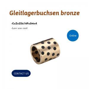 China Gleitlagerbuchsen Bronze Alloy Bronze Gleitlager Bushing With Graphite Inserted on sale