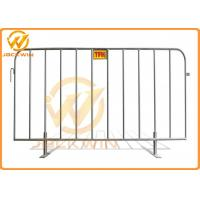 Buy cheap Removable Portable Event Galvanized Steel Pedestrian Barriers with Flat Feet product
