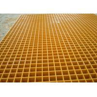 Buy cheap 38MM Square Hole Plastic floor grating Yellow Color Free Sample product