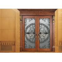 Buy cheap Glass Lowes Wrought Iron Entry Doors And Glass Agon Filled 22*64 inch Size Durable product
