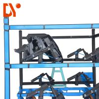 Buy cheap Blue Color Heavy Duty Workshop Trolley Custom Length For Assemble Line product