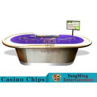 Buy cheap Professional Luxury BaccaratPoker Game Table With Chip Tray For 9 Players product