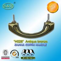 Buy cheap Metal hardware zamak Coffin Handles, Bronze Color and High Polished H028 size 17.5*7 cm product