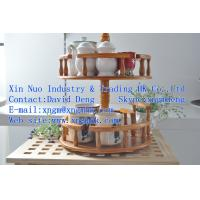 China eco-friendly rotatable wooden spice rack、Stands、storage racks on sale