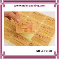 Buy cheap Adhesive kraft paper label sticker for boutique products/None lamination brown paper sticker  ME-LB020 product