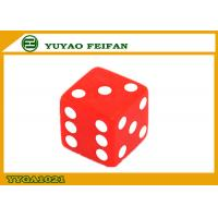Buy cheap 16mm Custom Acrylic Dice Two Six Sided Dice Set  Red Square Corner product