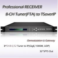 Buy cheap IPTV DVB-S/S2 Professional Receiver Eight-Channel DVB-S/S2 TO IP Streaming product