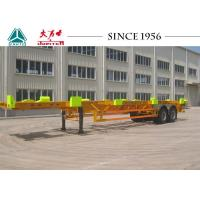 Buy cheap Heavy Duty 50 Tons Skeletal Container Trailer 12420*2480*1540 Dimension product