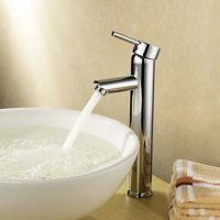 Buy cheap Single Handle Deck Mounted Brass Bathroom Tap Chrome Plated For Above Counter Basin product