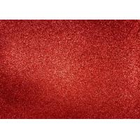 Magenta Red Glitter Fabric For Dresses , Cold Resistance Shiny Glitter Fabric for sale