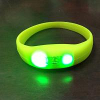 Buy cheap LED Pulse Remote Control Radio Controlled Silicone Wristband Sound Motion Activated Light Bracelet product