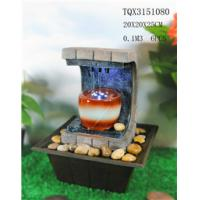 Buy cheap Polyresin Water Fountain Hand Painting With Led Lights For Home Decoration product