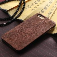 Quality OEM Anti - Static Full Wood Carved iPhone 6 Plus Case with Natural Texture for sale