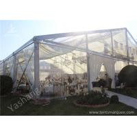 Buy cheap Clear Top / Wall PVC Fabric Cover Outdoor Luxury Wedding Tents With White Linings from Wholesalers