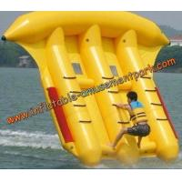 Buy cheap 3m Width Yellow Inflatable Banana Boat  , Inflatable Flyfish For Adults product