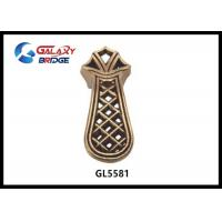 Buy cheap Polished Brass Zinc  Kitchen Cupboard Door Handles Chinese Style Square European Hollow Drawer pulls product