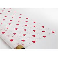 Buy cheap Heart Shapes Custom Printed Wax Paper , Greaseproof Decorative Wax Paper Sheets product