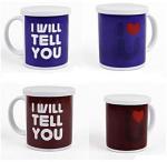 Buy cheap Heat Sensitive Reusable Coffee Cup Custom Magic Mug White AB Grade product
