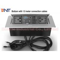 Buy cheap 1.5 Meter Cables Desk Hidden Socket / Meeting Table Pop Up Electrical Outlet product