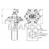 MM Series Double Diaphragm 2 1/2 Inch Pulse Jet Valve BGY62 Can Instead of CA62MM